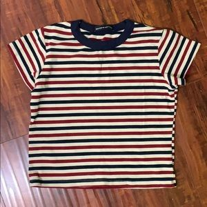 Brandy Melville Cropped Striped Tshirt